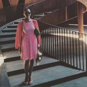 J. Crew Dresses - J. Crew Neon Pink Embroidered Floral Racer Dress